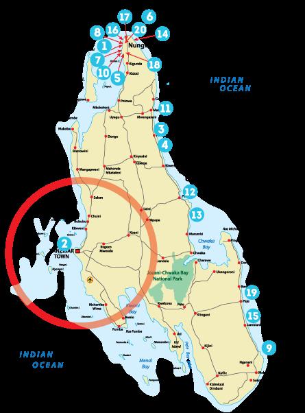 Остров Занзибар, Танзания, районы Бубубу, Мбвени